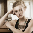 Blond woman with necklace — Stock Photo #10706362