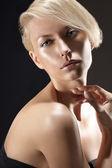 Beauty portrait of a gorgeous blonde — Stock Photo