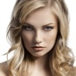 Blond young lady portrait — Stock Photo