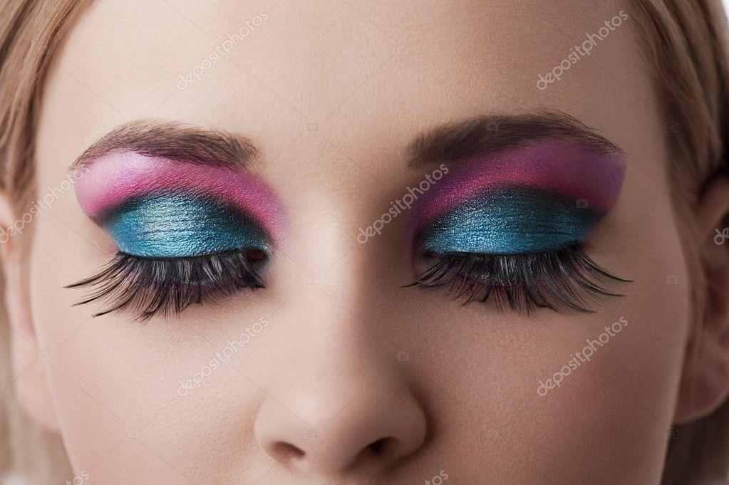 eyes makeup closeup � stock photo 169 carlodapino 9480381