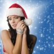 Stock Photo: Santa claus woman