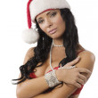 Sexy santa claus woman — Stock Photo #9570578