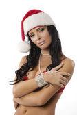 Sexy santa claus woman — Stock Photo