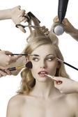 In beauty salon — Stock Photo