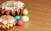 Pasen cake en eieren — Stockfoto