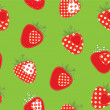 Strawberry seamless — Stock Vector