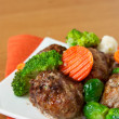 Royalty-Free Stock Photo: Meatballs with vegetables