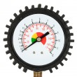 Stock Photo: Pressure meter (isolated)