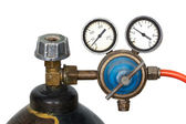 Gas pressure regulator with manometer (isolated) — Stockfoto