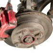 Stock Photo: Old brake pads and disk (isolated)