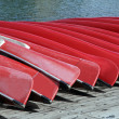 Canoes at Lake Louise — Stock Photo