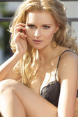Young sexy blond in sexy lingerie — Stock Photo