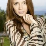 Portrait of beautiful brunette — Stock Photo #8011324