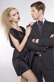 Portrait of elegant couple — Stockfoto