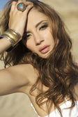 Portrait brunette — Stock Photo