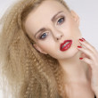 Young pretty woman with beautiful blond hairs — Stock Photo #9655349