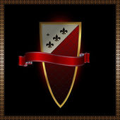 Shield and banner. — Stock Photo