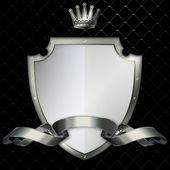 Shield and ribbon. — Stock Photo
