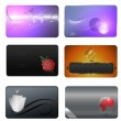 Business card templates collection. — Stock Photo