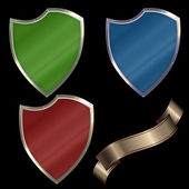 Conjunto de escudos. — Foto de Stock