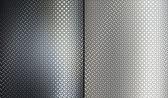 Dvě kovové textury. — Stock fotografie