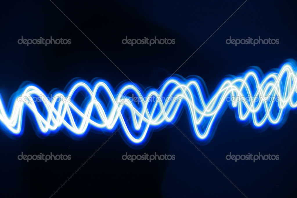 Blue lighting wave — Stock Photo #10073248