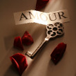 Key of love — Stock Photo