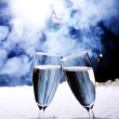 Celebration Toast With Champagne - Stock Photo