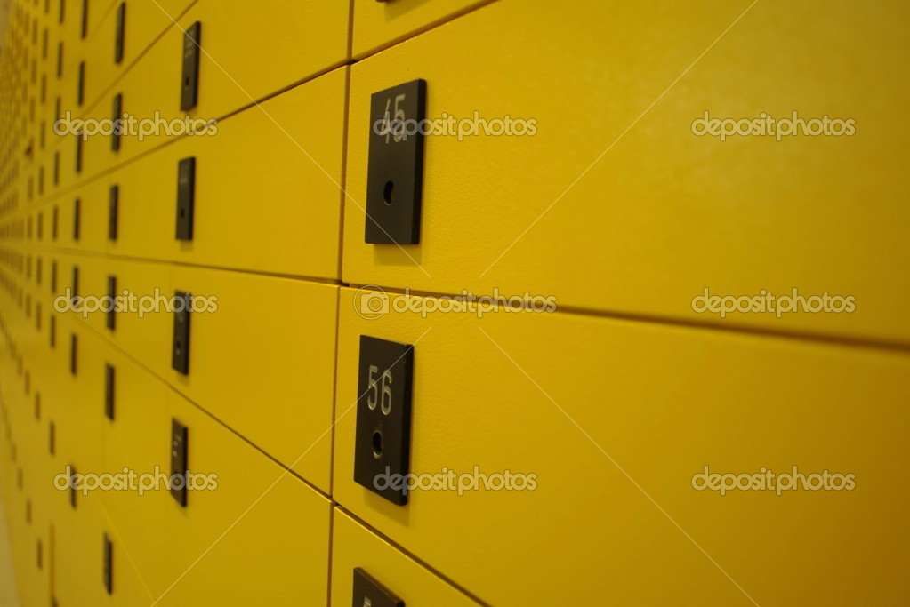 Yellow lock boxes very shallow DOF........... — Stock Photo #10324500