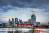 Cincinnati ohio skyline, ochtend, — Stockfoto