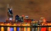 Editorial, Nashville Skyline at night — Stock Photo
