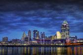 Dark Skyline of Cincinnati Ohio — Stock Photo