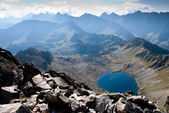 Five lakes village in Tatra Mountain — Stock Photo