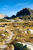 Kozi Wierch peak from 5 lakes valley in Tatra Mountains — Stock Photo