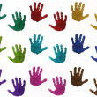 Colorful children's hands — Stockfoto