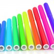Bright markers on white — Stock Photo