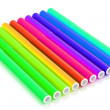 Bright markers on white — Stockfoto