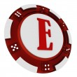 Poker chip font. 3D Rendered Casino Style. Letter E — Stock Photo