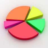 Colorful 3d pie chart graph — Stock Photo