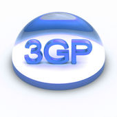 3D Style file format icon - 3GP — Stock Photo