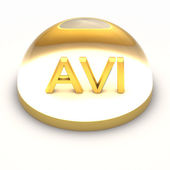 3D Style file format icon - AVI — Stock Photo