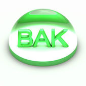 3D Style file format icon - BAK — Stock Photo