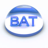 3D Style file format icon - BAT — Stock Photo