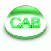 3D Style file format icon - CAB — Stock Photo