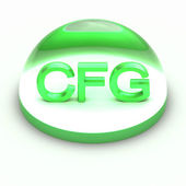 3D Style file format icon - CFG — Stock Photo