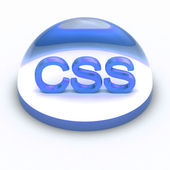 3D Style file format icon - CSS — Stock Photo