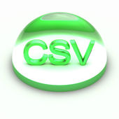 3D Style file format icon - CSV — Stock Photo