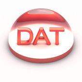3D Style file format icon - DAT — Stock fotografie