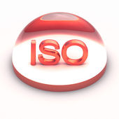 3D Style file format icon - ISO — Stock Photo