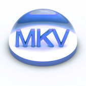 3D Style file format icon - MKV — Stock Photo
